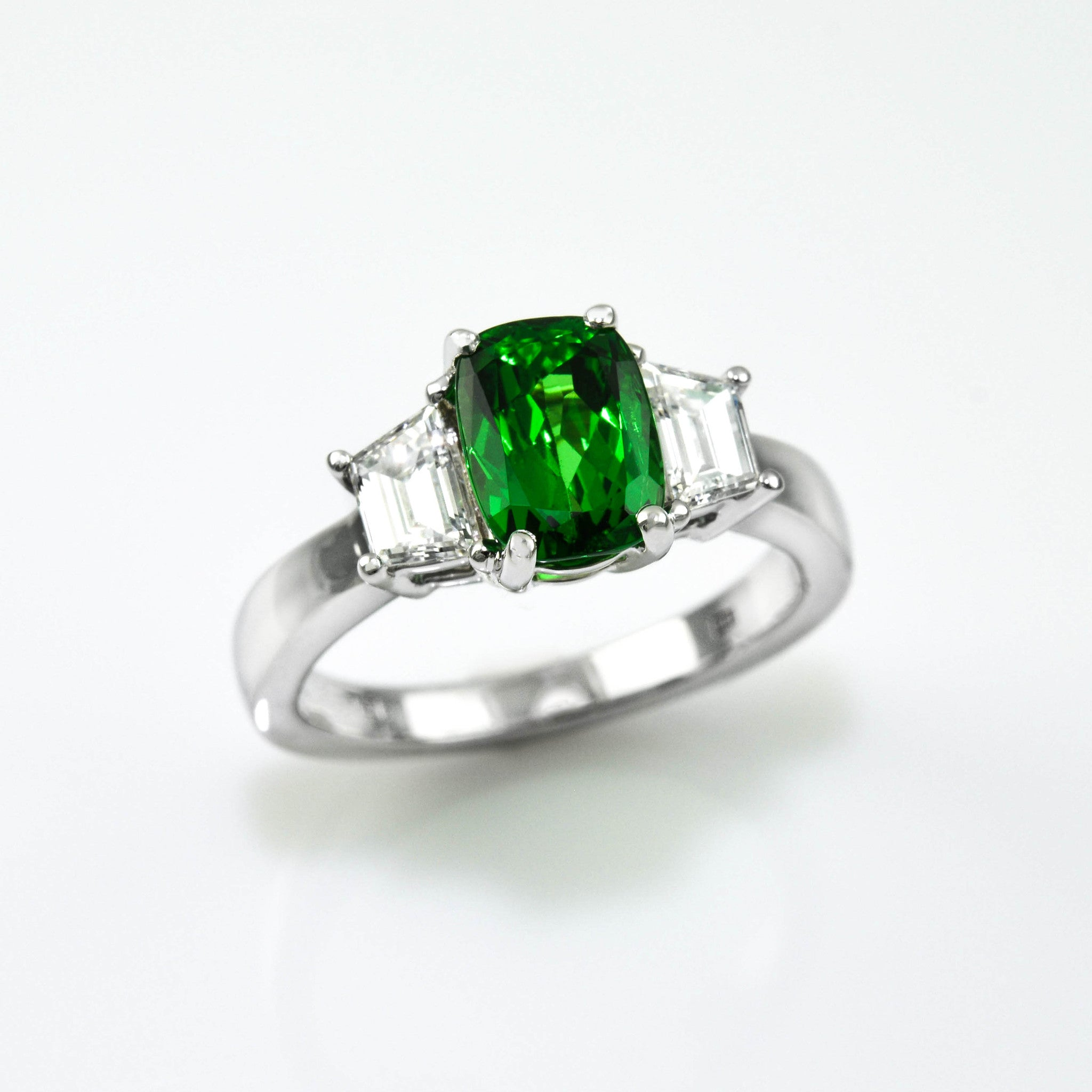 gold antique halo diamond shaped green engagement with style pear white rings ring tsavorite garnet
