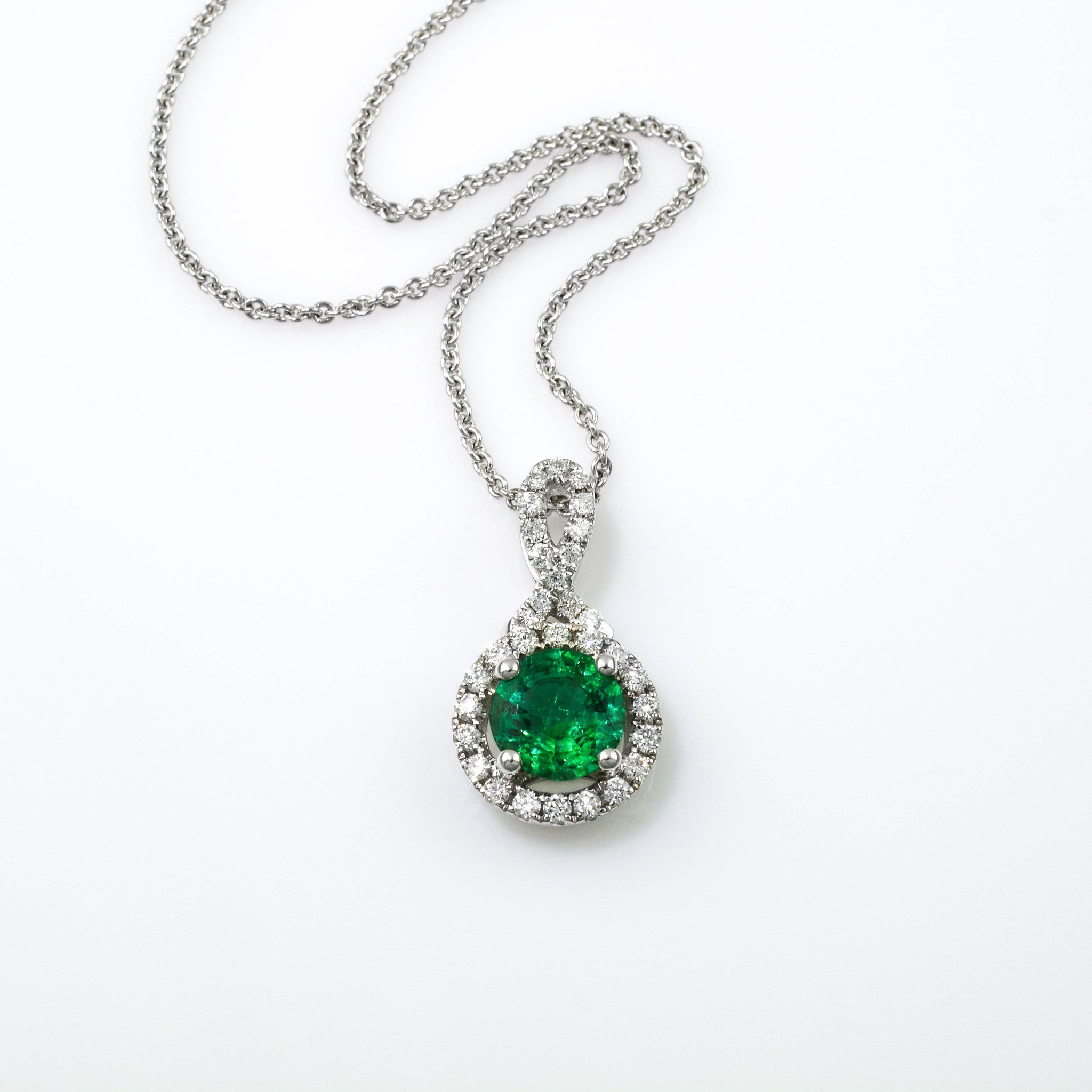 Exquisite emerald and diamond pendant plante jewelers for Plante pendante