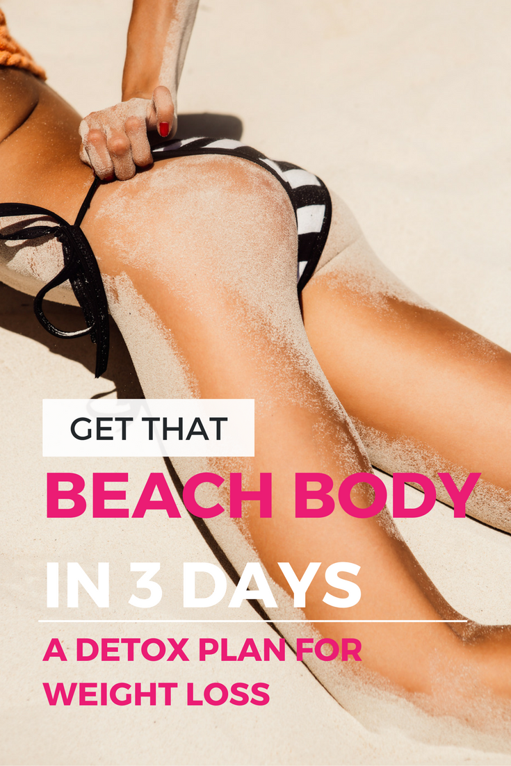 Get That Beach Body In 3 Days: A Simpe & Easy Juice Detox Diet (Or Cleanse) for Weight Loss | Detoxing eliminates the body of toxins stored in fat cells and increases metabolism. If you're only looking to lose a few pounds, a detox for weight loss might be a great solution for you.  | Health + Wellness Tips @shefit