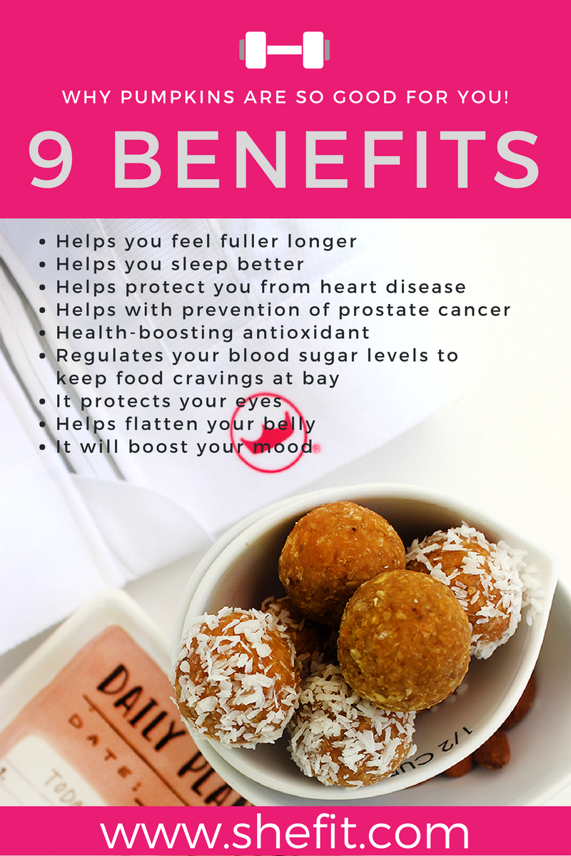 Did you know that your favorite fall fruit is actually amazing for #weightloss? Packed with protein & perfect for when you need a snack, these #vegan energy bites will give you that #energyboost you need for your next workout!| Quick & Easy #NoBake #PumpkinPie #EnergyBalls Recipe | Healthy Dairy Free #PreWorkout or #PostWorkout Snack | #Shefit High Impact Sports Bra for Big Busts | #HealthTips | #ActiveWear for Large Busts | #SportsWear | Cute Outfits for #Running | #GlutenFree #KidFriendlySnack