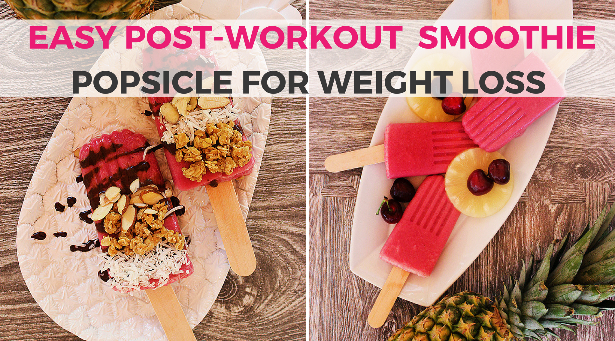 Easy Post-Workout Yogurt Smoothie Popsicle Recipes for Weight Loss: The hot, sunny weather has finally arrived & what better way to cool down post-workout than with a delicious popsicle filled with healthy ingredients to help you in your muscle recovery.