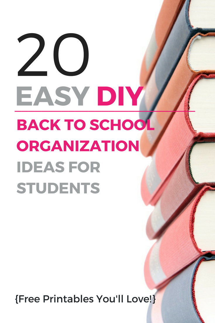 20 Easy DIY Back to School Organization: Ideas for Students | Use the ideas and free printables above to streamline your morning routine – they're sure to help you avoid stressful school mornings. | Shefit High Impact Sports Bra for Big Bust | For Highschool Teens - College