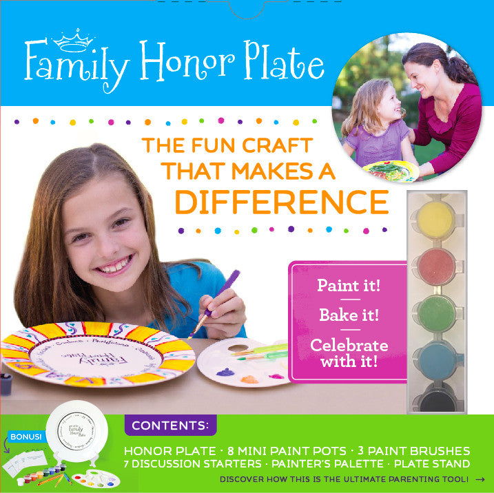 FAMILY HONOR PLATE PAINT KIT