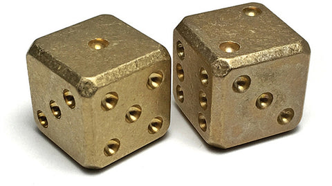 Flytanium Brass Dice Set