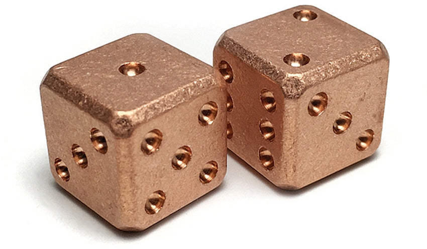 Flytanium Copper Dice set
