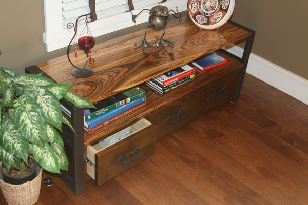 Media Console TerraSteel Custom Furniture Design - Made in Bend, Oregon