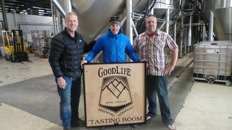 TerraSteel Custom Furniture Design - Bend, OR - Custom Sign for GoodLife Brewing