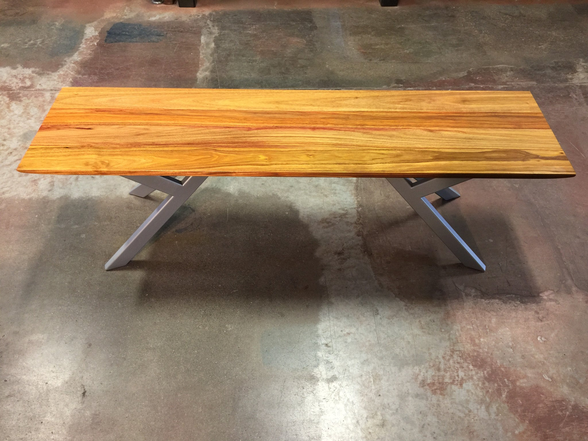 ... Canary Wood Asian Bench   TerraSteel Furniture Design, Bend OR ...