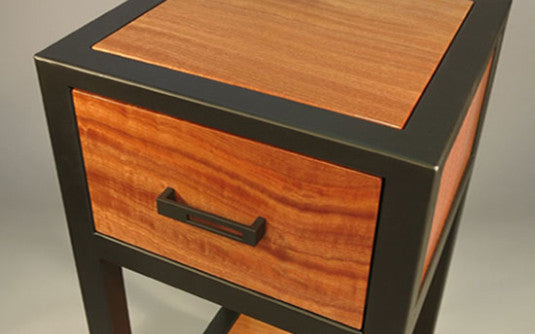 ... Custom Side Table   TerraSteel Furniture Design   Custom Furniture Made  In Bend, Oregon ...