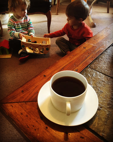 Cousins Playing Coffee