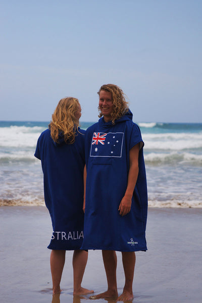 Hooded Change Towel (Aussie flag)