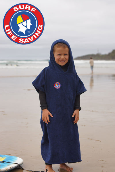 Surf Life Saving Australia Hooded Change Towel (Navy)