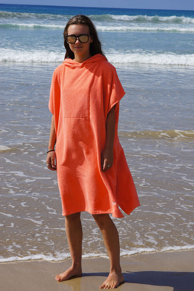 Hooded Change Towel (Coral)