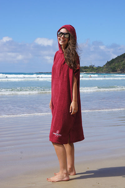 Hooded Change Towel (Maroon)