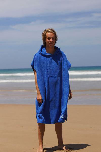 Hooded Change Towel (Ocean blue)