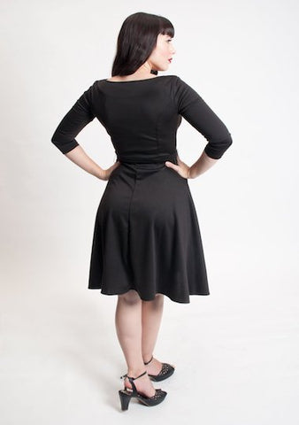 Heart Of Haute Donna Dress in Black