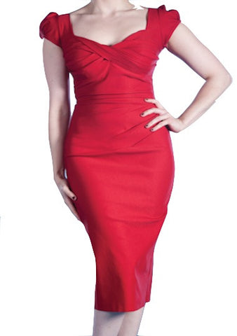 Stop Staring! Billion Dollar Baby in Red- Boutique Noir