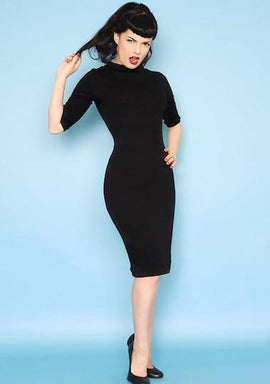 Heart of Haute Super Spy Dress in Black