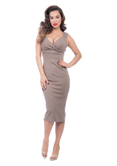 Steady Clothing Verona Diva Dress in Mocha