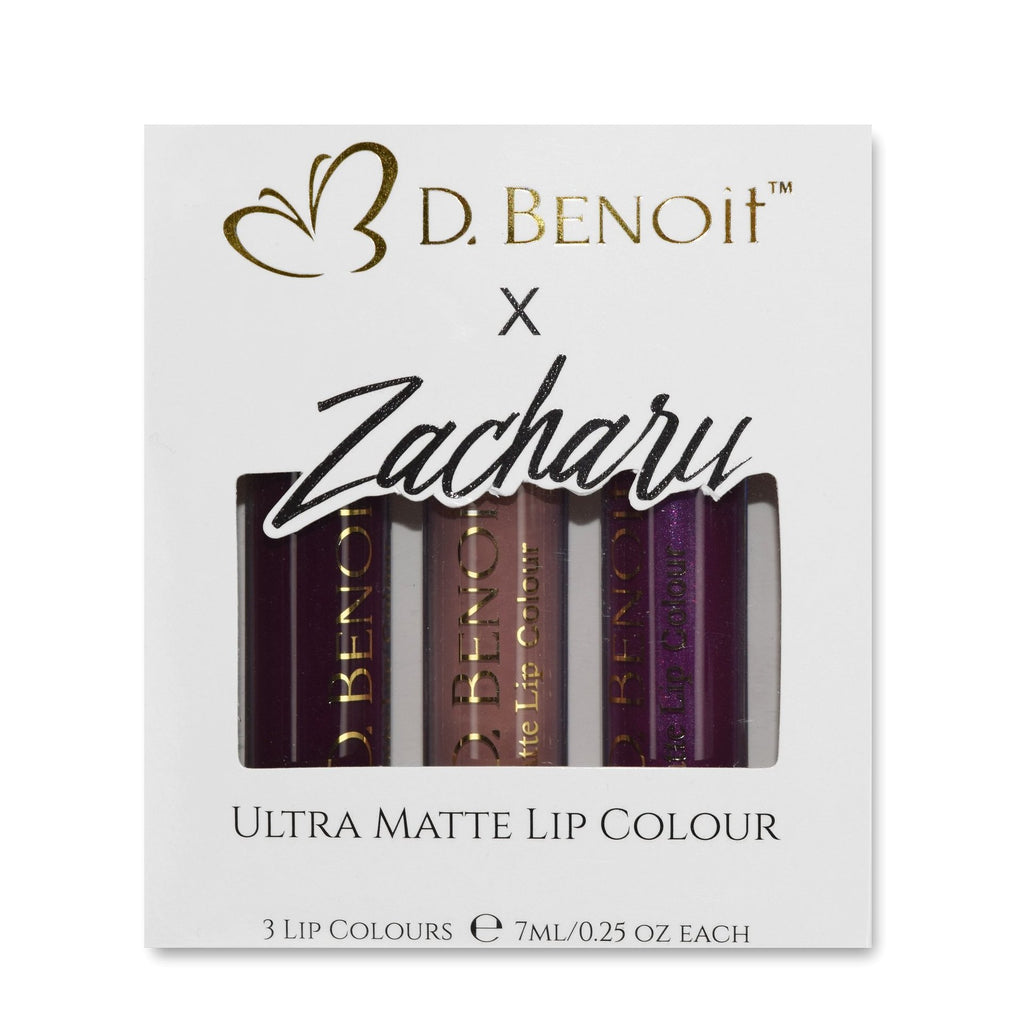 Zachary 3pc Set, Matte Liquid Lipstick
