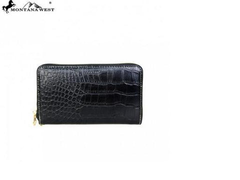 PHONE CHARGING STUDS COLLECTION WRISTLET - BLACK CROC