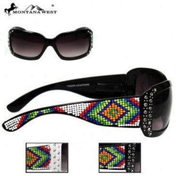 AZTEC HAND-BEADED SUNGLASS