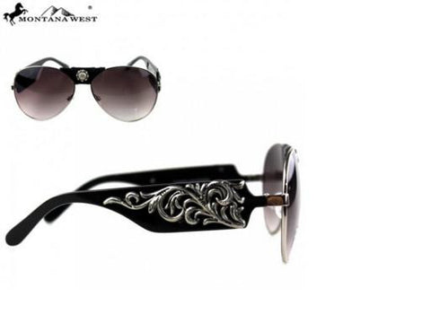 SCROLL COLLECTION AVIATOR SUNGLASSES