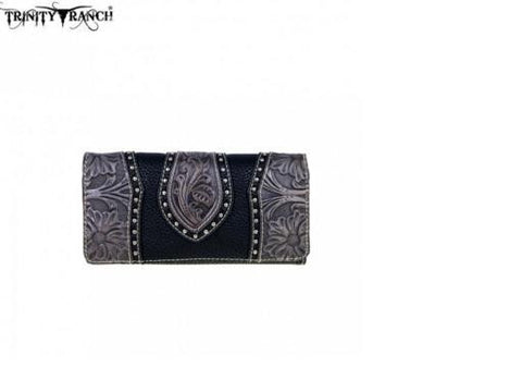 TRINITY RANCH TOOLED DESIGN COLLECTION WALLET