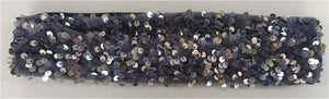 Silver Black Sequin Hair Band