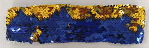 Blue Gold Sequin Hair Band