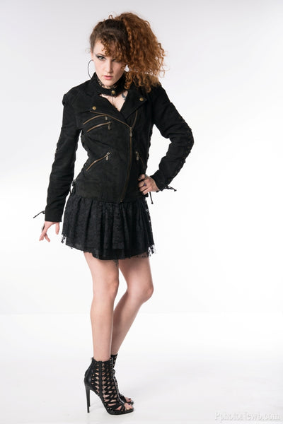 Seductive Suede Multi Ties Jacket