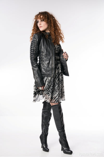 Diva D-Ring Leather Jacket