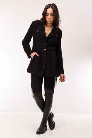Are You Experienced Vintage Short Suede Trench Coat
