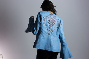 Foxy Lady Bell Sleeve Back Stud Bolero Leather Jacket