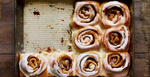 Vegan Spelt Cinnamon Rolls with Dark Chocolate and Fig Filling