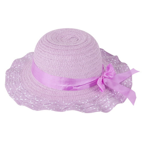 "Momo Grow Girls ""Sarina"" Speckled Floppy Sun Hat with Ribbon"