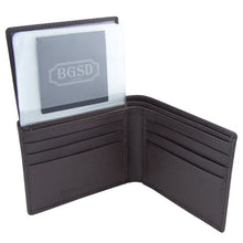 Load image into Gallery viewer, BGSD Men's Dark Brown Pebble Grain Classic Leather Passcase Bifold Wallet