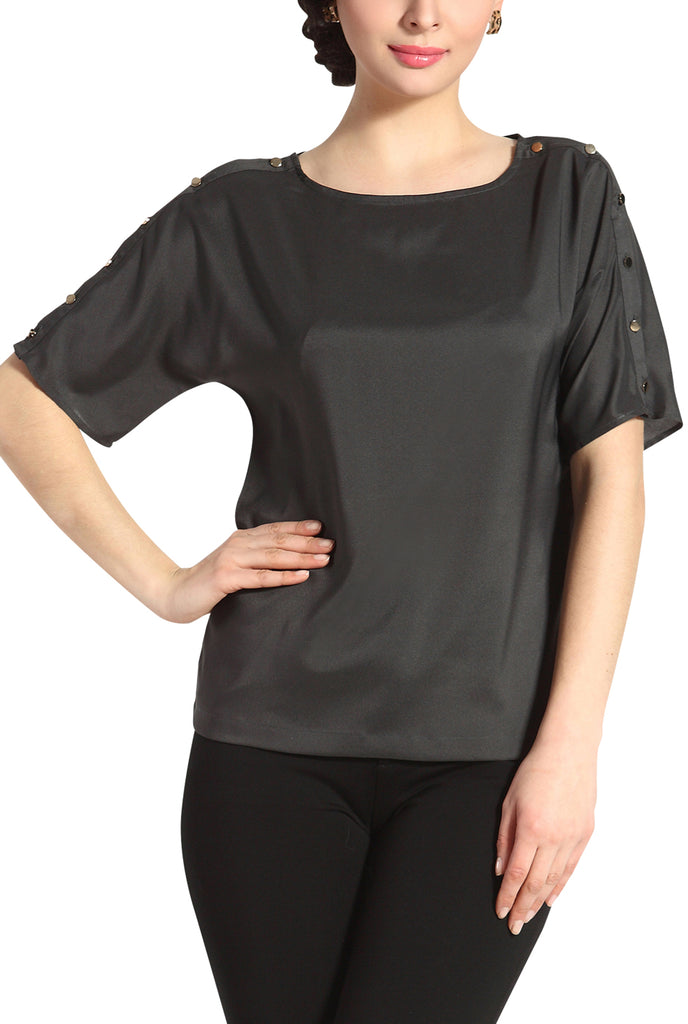 PHISTIC Women's 'Paige' Button Sleeve Top