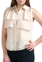 Load image into Gallery viewer, PHISTIC Women's 'Jamie' Tiered Chiffon Blouse