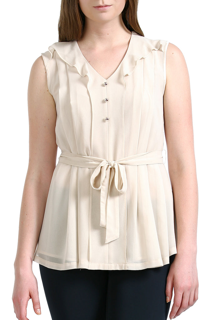 PHISTIC Women's 'Bianca' Pleated Front Chiffon Shirt