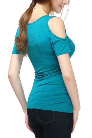 "PHISTIC Women's ""Jenny"" Cold Shoulder Top"