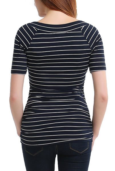 "PHISTIC Women's ""Yvette"" V-Neck Striped Top"
