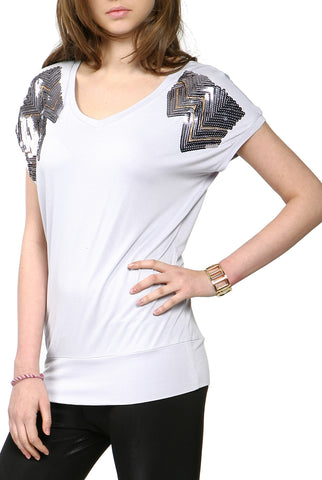 PHISTIC Women's 'Scottie' V-Neck Top