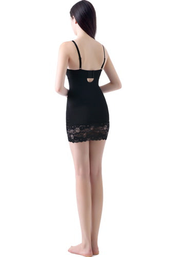 Phistic Women's Classic Lace Form Fitting Slip Shapewear