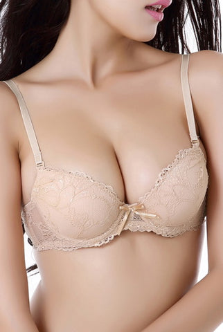 phistic Women's Lace Overlay Push-Up Bra
