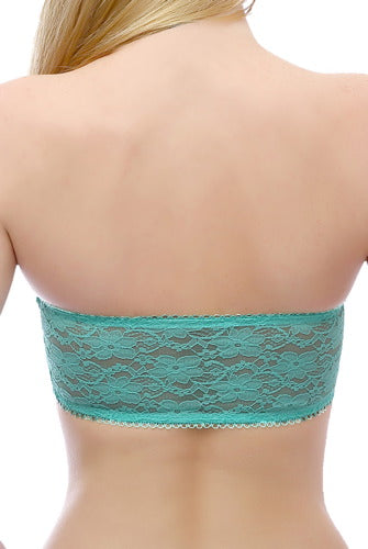 phistic Women's Lace Bandeau Padded Tube Bra