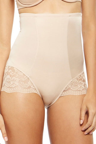 Phistic Women's Lacey Accent High Waist Shapewear Brief
