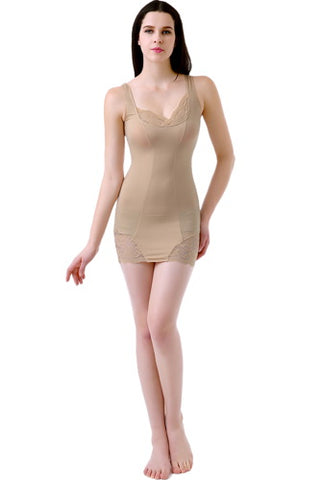 phistic Women's Lacey Accent Form Fitting Slip Shapewear