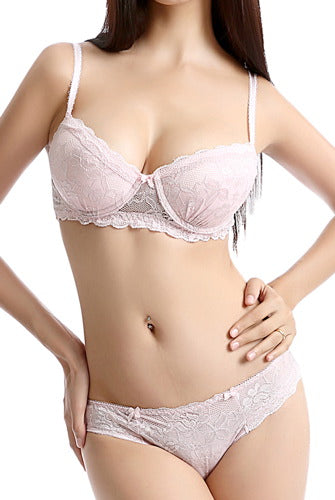 phistic Women's Padded Bra & Thong 2-Piece Set