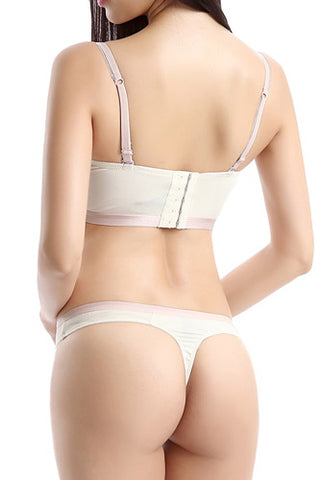 phistic Women's Push-Up Bra & Thong 2-Piece Set
